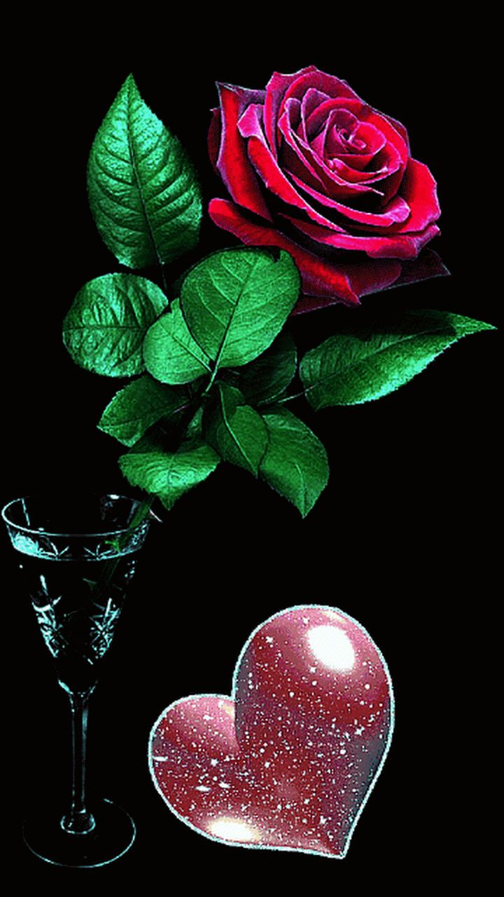 Красивые гифы с цветами о любви