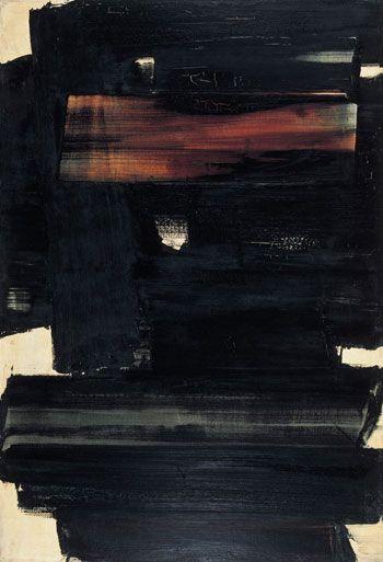 """PIERRE SOULAGES Peintre abstrait Français, Pierre Soulages est né en 1929 à Rodez. Il est le peintre du noir, ou plutôt de la lumière. Ses peintures (qu'il appelle """"outre-noir"""" ou """"noir-lumière"""") sont un travail sur la lumière : celle ci vient heurter..."""