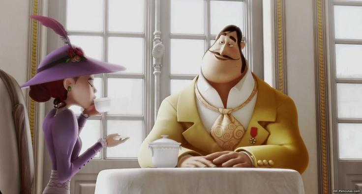 Un Monstruo en París (2011)  Lucille, muy a su pesar, se reúne con el retorcido Prefecto Maynott para tomar el té.