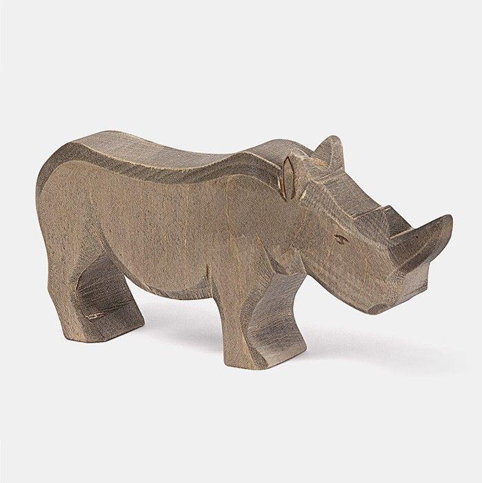 Handbemalte Spielfigur aus massivem, einheimischem Ahornholz    Nashörner sind …