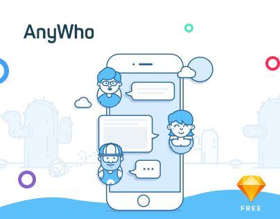 "Popatrz na ten projekt w @Behance: ""AnyWho - iOS & Android App - FREE Sketch UI KIT"" https://www.behance.net/gallery/49144883/AnyWho-iOS-Android-App-FREE-Sketch-UI-KIT"