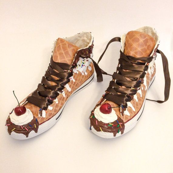 Ice Cream Custom Converse Ice Cream Sundae Shoes
