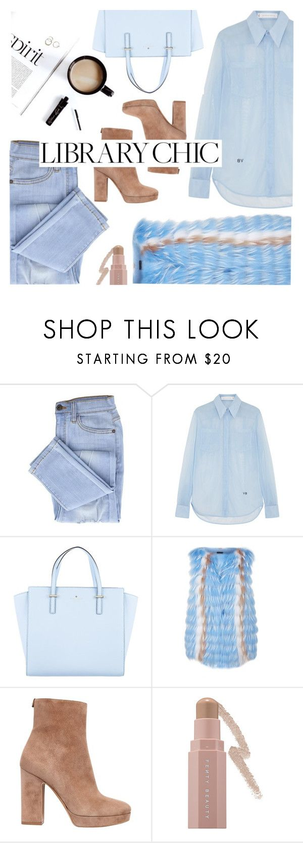 """""""Just Chilled"""" by pollyphalatse ❤ liked on Polyvore featuring Victoria Beckham, Kate Spade, Sportalm, Salvatore Ferragamo and Sephora Collection"""