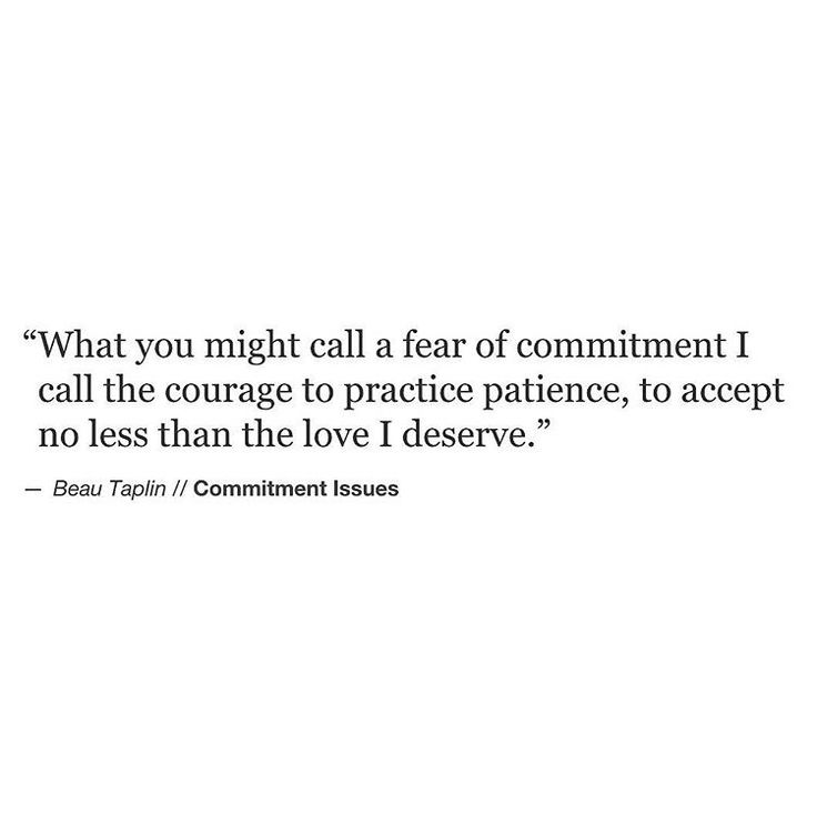"""Commitment issues"". [Beau Taplin]"