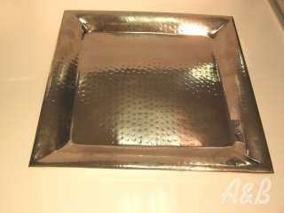 Square Hammered Stainless Steel Platters