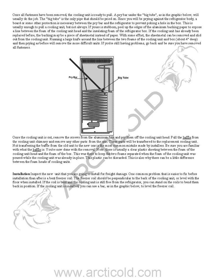 Cooling Unit Dometic Refrigerator Cooling Unit Replacement