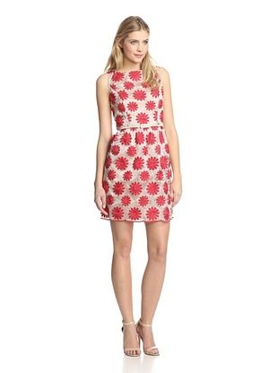 56% OFF Muse Women's Embroidered Flower Dress (Red)