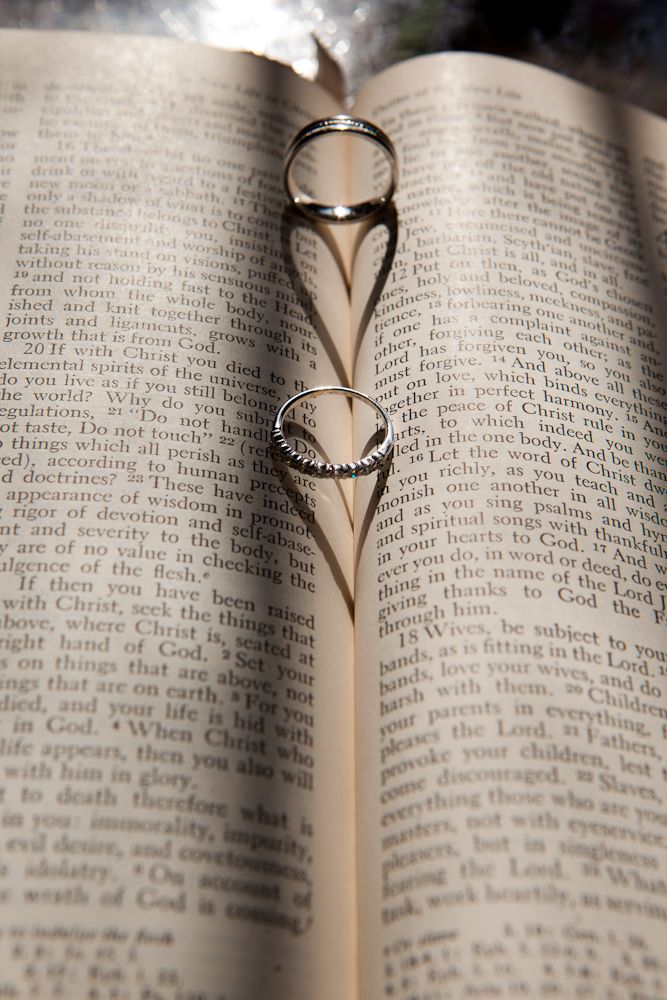 Bible & wedding ring picture. Super cute to do this ourselves and frame next year! <3