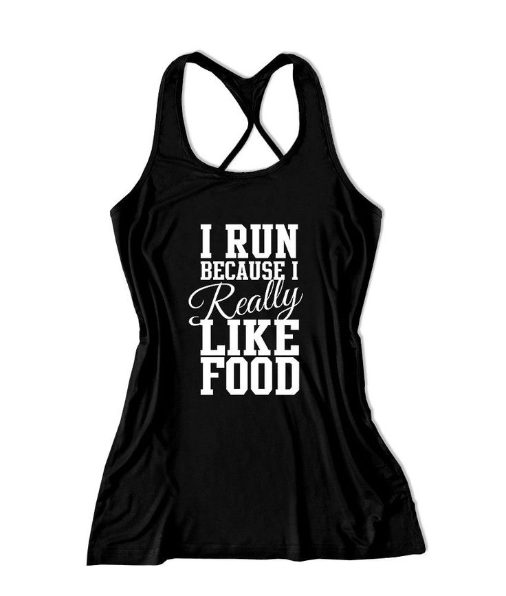 I run because I really like food Women's Running Tank Top -X 785