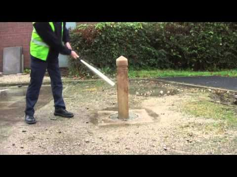 Glenwood™ Post Product Testing http://www.youtube.com/watch?v=RDD7xiNxpy0 #GlasdonUK #Post #MarkerPost #WoodEffect