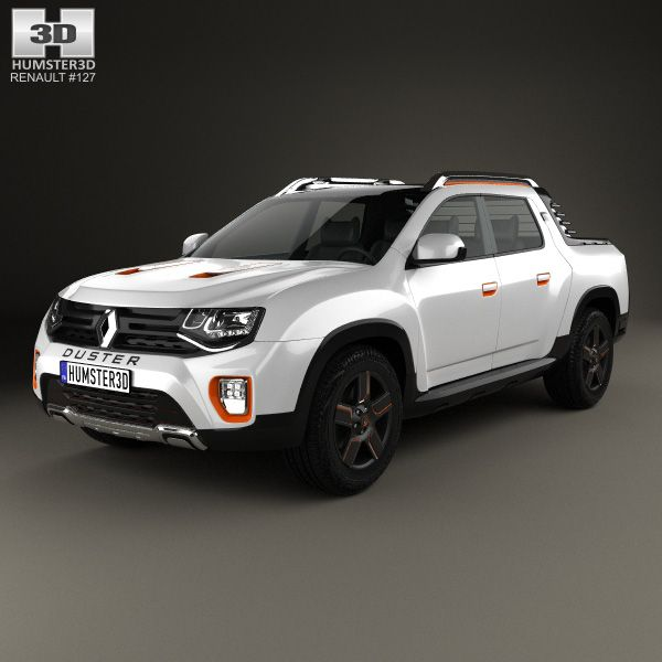 Renault Duster Oroch 2015 3d model from humster3d.com. Price: $75