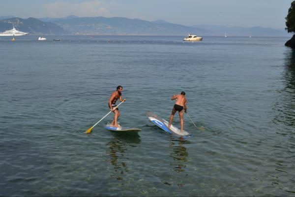Playing in Paraggi Bay