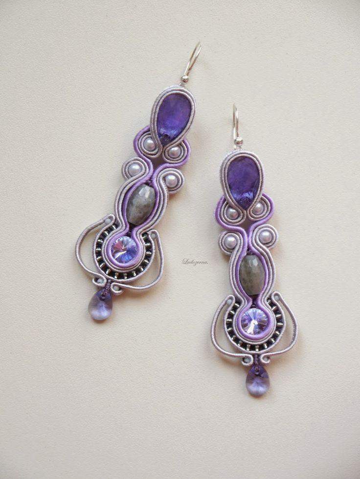 #soutache #www.ludozerna.com #earrings #purple