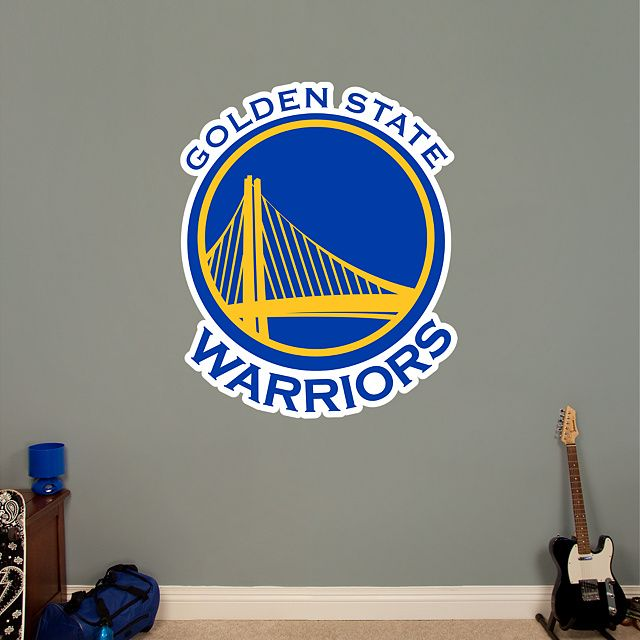Golden State Warriors Logo REAL.BIG. Fathead – Peel & Stick Wall Graphic | Golden State Warriors Wall Decal | Sports Home Decor