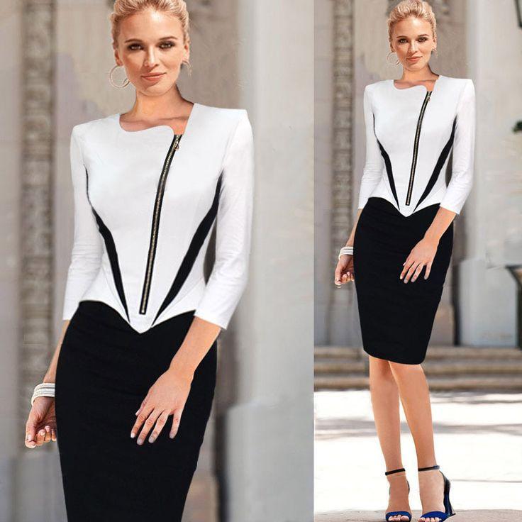 New Style Women Bodycon Dress Plus Size Vestidos Elegant Dresses Ropa Mujer Robe Courte Pencil Work Dress Wrap Jurken Patchwork
