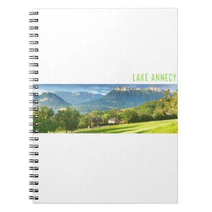 #Lake Annecy Spiral Notebook - #travel #trip #journey #tour #voyage #vacationtrip #vaction #traveling #travelling #gifts #giftideas #idea