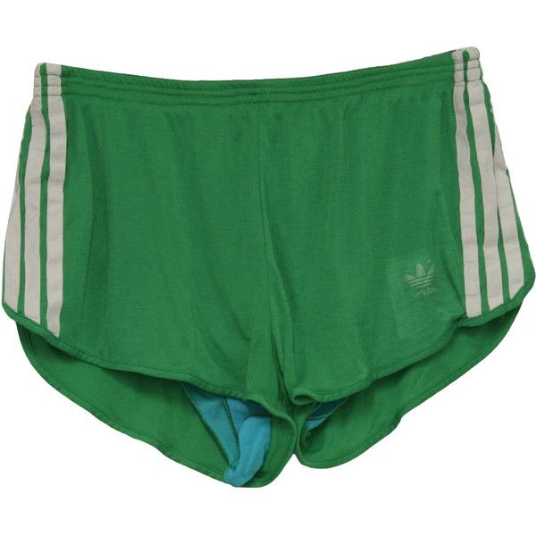 1980's Vintage Adidas Shorts: 80s -Adidas- Mens bright green polyester... ($26) ❤ liked on Polyvore featuring men's fashion, men's clothing, men's activewear, men's activewear shorts, shorts, bottoms, pants, mens activewear and mens activewear shorts