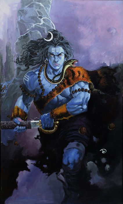 The fury-shiva_rudra... He is most merciful but when He is angry His wrath is deadly.