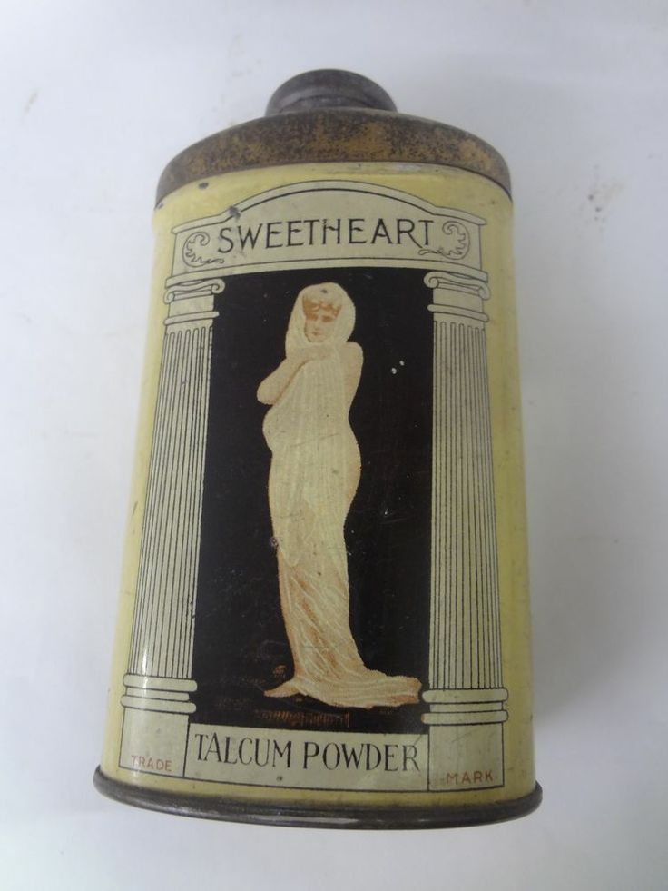 VINTAGE SWEETHEART TALCUM POWDER MANSCO TALC TIN ADVERTISING COLLECT S-2454