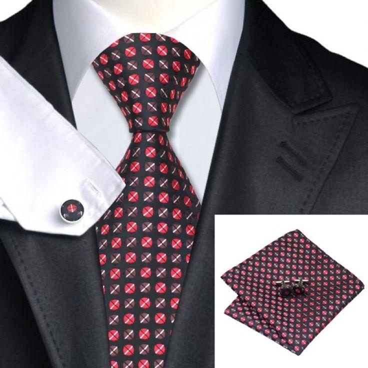 Подарочный набор черный с красным и коричневым горошком - купить в Киеве и Украине по недорогой цене, интернет-магазин