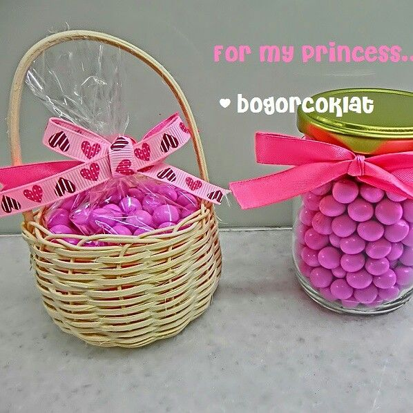 Cute goodybag chocolate pink