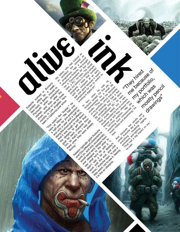 Magazine design.