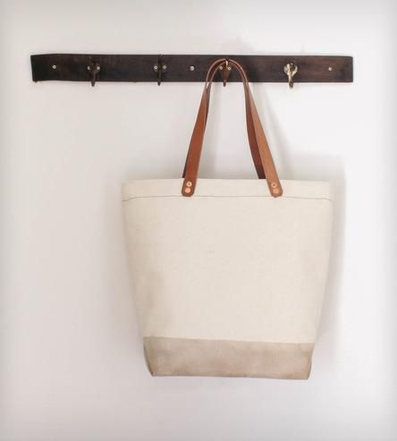 Cotton Canvas Tote Bag -- Waxed Bottom by Munie Designs on Scoutmob Shoppe