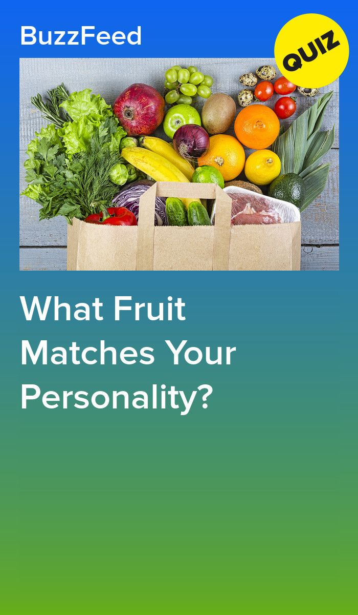 What Fruit Matches Your Personality Fruit Personality Match