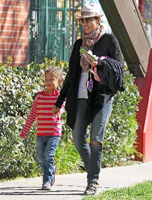 Halle Berry and her son