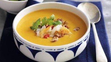 Суп-пюре из репы, сельдерея, курицы и тыквы