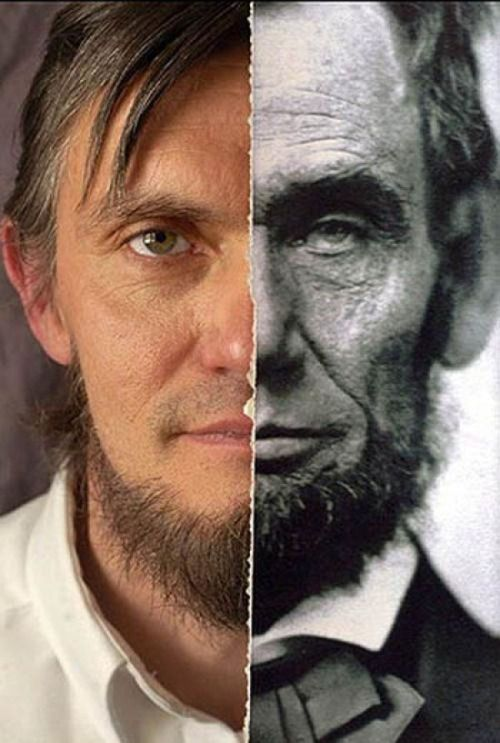 Meet An 11th Generation Lincoln   The image above pairs the 16th President of the United States, Abraham Lincoln, with Ralph Lincoln, an 11th generation Lincoln and third cousin of the late president.