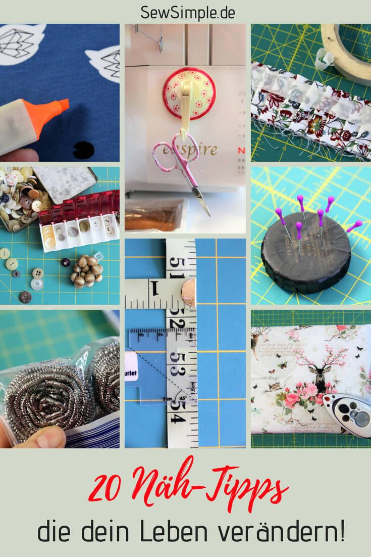 ≥ 20 awesome sewing tips that change your life
