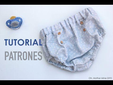 DIY Tutorial y patrones CUBREPAÑAL o BRAGUITAS de lino - YouTube