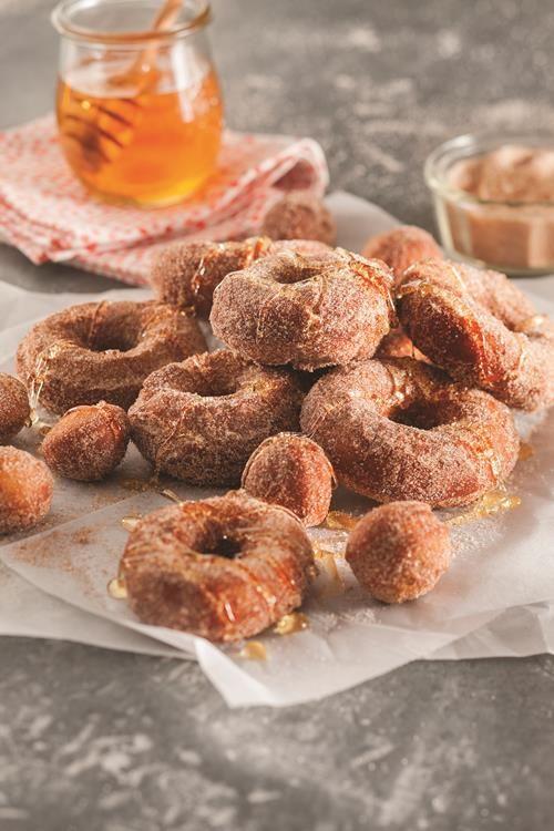 National Honey Board Recipe: Honey Banana Velvet Doughnuts #NationalDonutDay