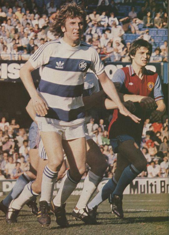 20th August 1978. QPR legend Stan Bowles alongside Aston Villa's Brian Little at Loftus Road.