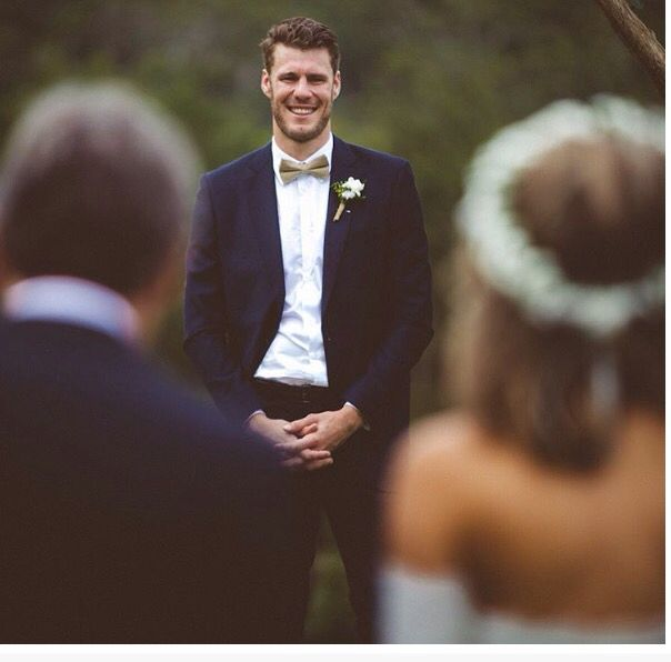 All photographers need to capture the very first moment the groom sees his bride for the first time! This picture is perfect.