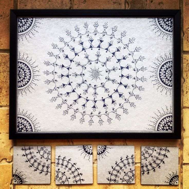 17 best Wall art - Warli Paintings images on Pinterest ...
