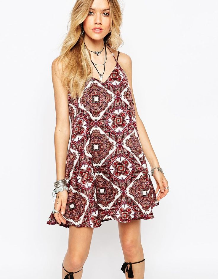 Image 1 of Missguided Boho Geo-Tribal Print Cami Dress