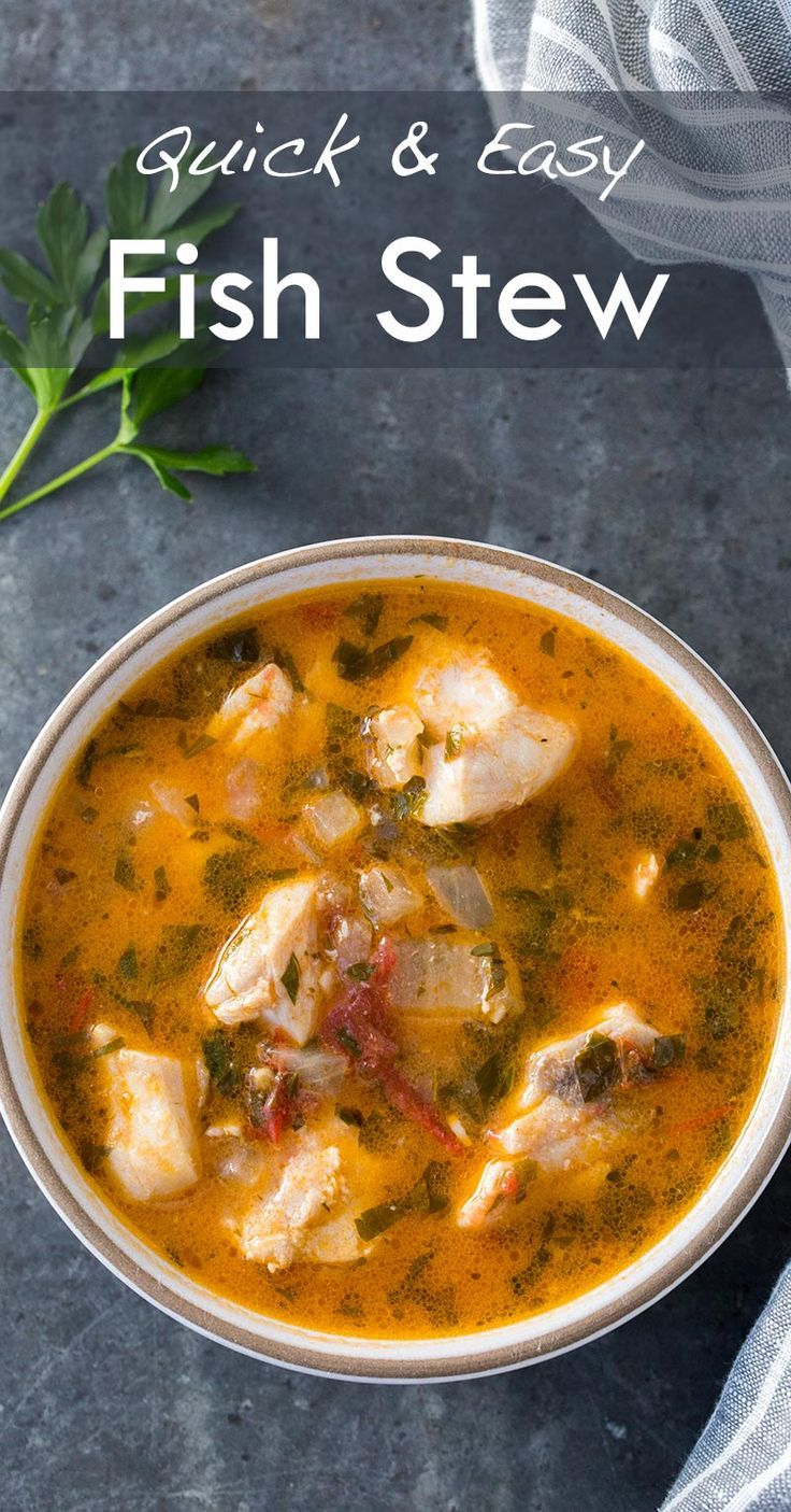 Quick easy and absolutely delicious fish stew fresh for Fish stew recipe