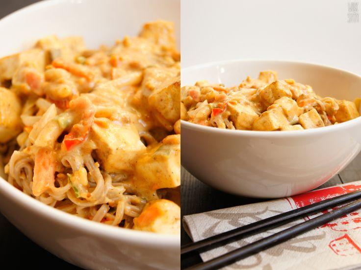 Makaron orzechowy z tofu (5 składników) - WilkSyty.pl - przepisy z 7 składników