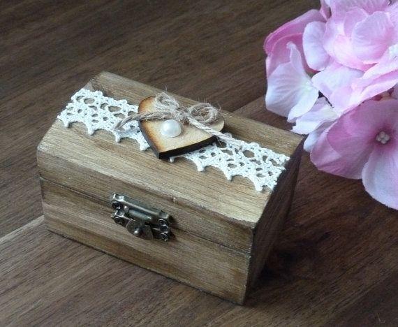 Caja del anillo de boda caja del portador de por SayaArtDesign