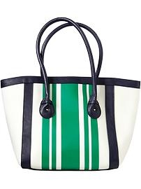 Women's Striped Canvas Totes