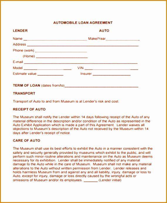 Blank Loan Agreement Best Of 8 Blank Loan Agreement Template Besttemplates Agreement Loan Contract Template