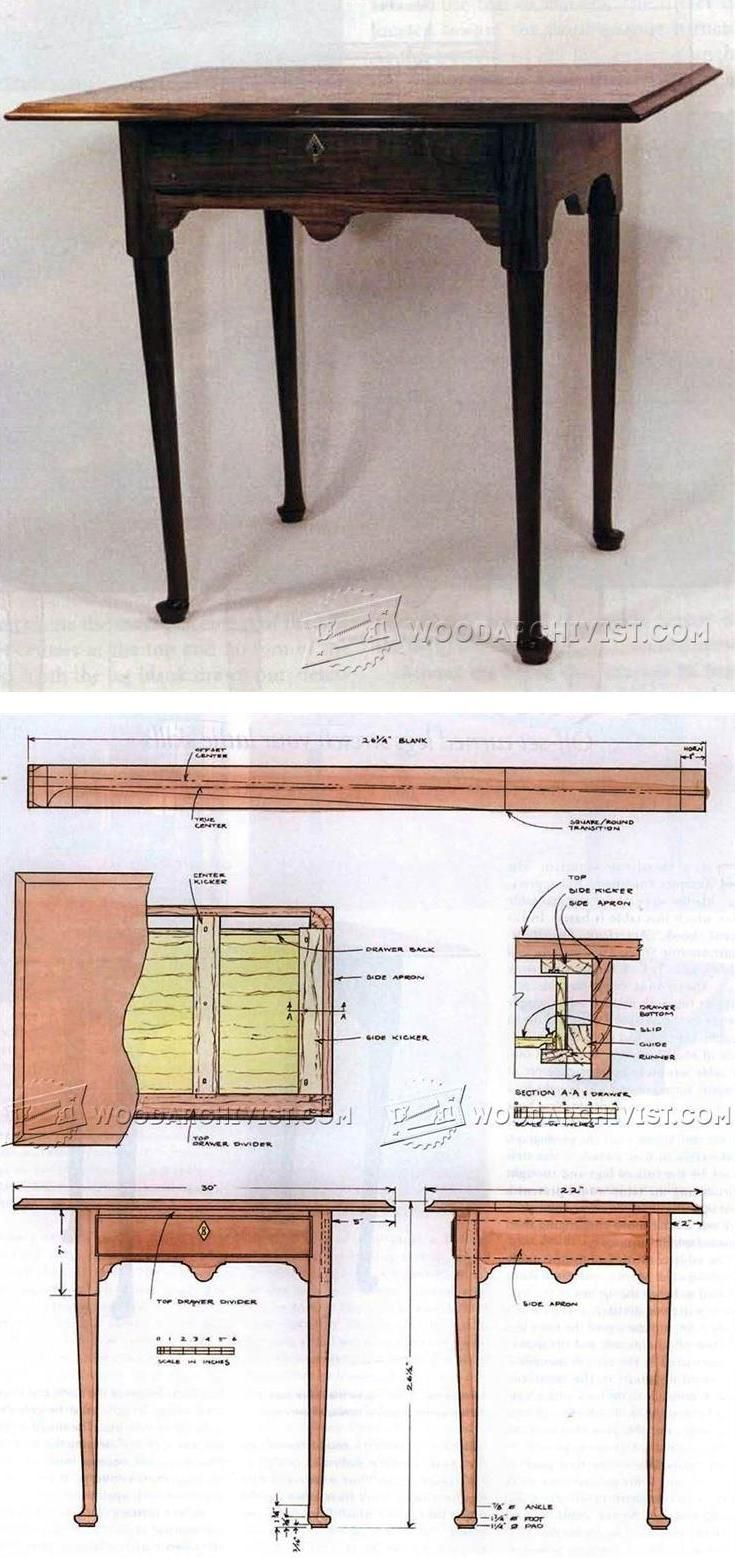 Queen Anna Tea Table Plans - Furniture Plans and Projects | WoodArchivist.com