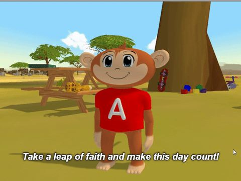 Take this leap day and make it count! @learnsafari happy leap. monkey. make this day count