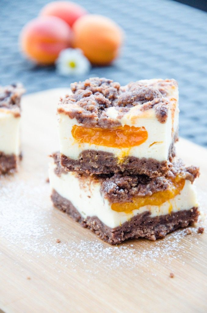 Schokolade Marillen Streuselkuchen mit Topfen // Baking Barbarine // Chocolate Crumble Cake with Apricots