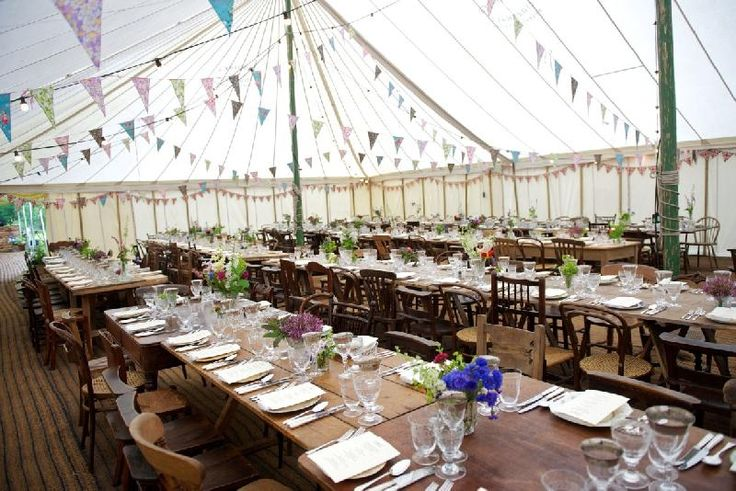 Traditional Canvas Pole Marquees | Canvas Marquee For Hire