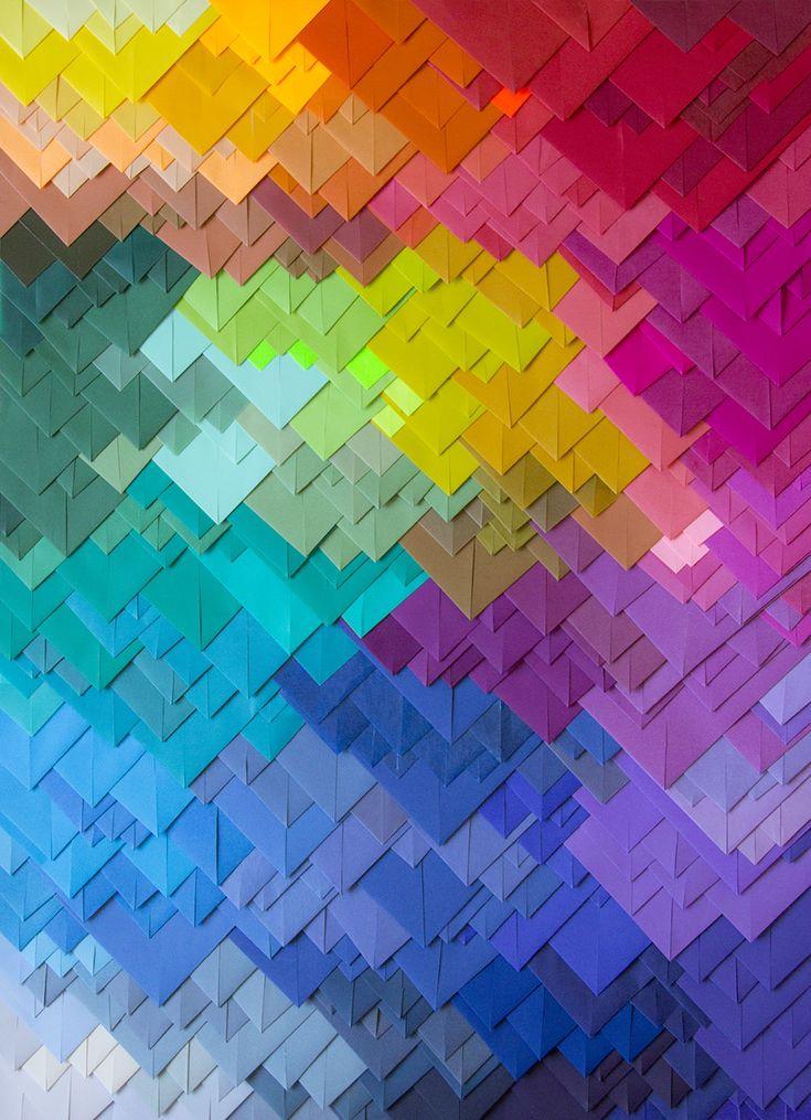 SIGHT  Layering of time : all beautiful ages  Les petits papiers de Maud Vantours US | geometry