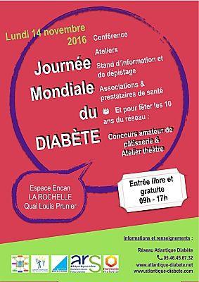 Photo : JMD - La Rochelle santé : Journée mondiale du diabète, lundi 14 novembre 2016 - Espace Encan