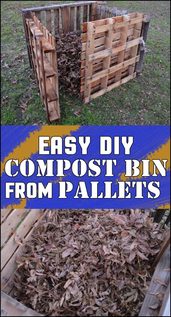 Build your own compost bin the quick, easy, and simple way using pallets!